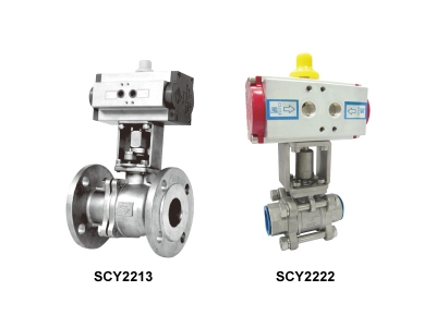 CYLINDER ACTUATED BALL VALVE (Double acting)