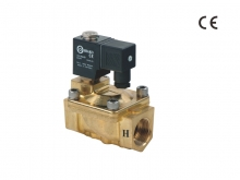 High Pressure 2/2Way Solenoid Valve (Brass series, Pilot acting)