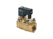 2/2 WAY WATER-HAMMER PROOF SOLENOID VALVE (Brass series, Pilot acting)