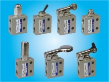 1/8, 3/2 WAY MECHANICAL VALVES